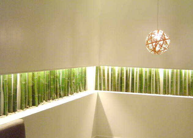 Decorar los interiores con bamb decoraci n del hogar for Bambu seco para decoracion