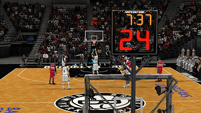 NBA 2K13 Brooklyn Nets New Shot Clock Texture NBA2K Mods