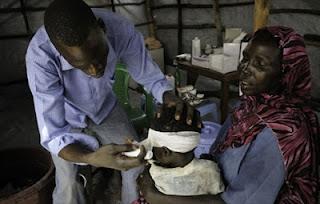Foto da atuação dos Médicos sem Fronteiras no Sudão do Sul
