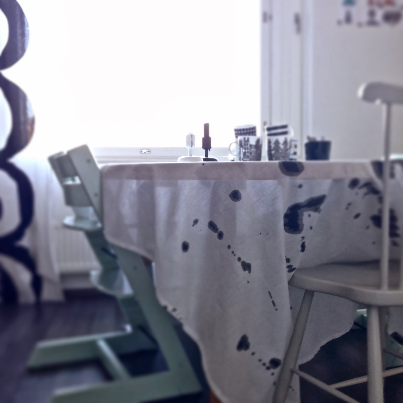 DIY, bordduk, pöytäliina, table cloth