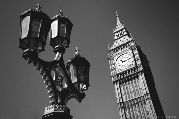 aliciasivert, Alicia Sivertsson, London, svartvitt, black and white, big ben