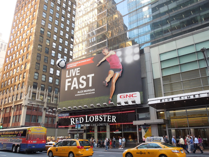 Alex Morgan GNC soccer billboard NYC