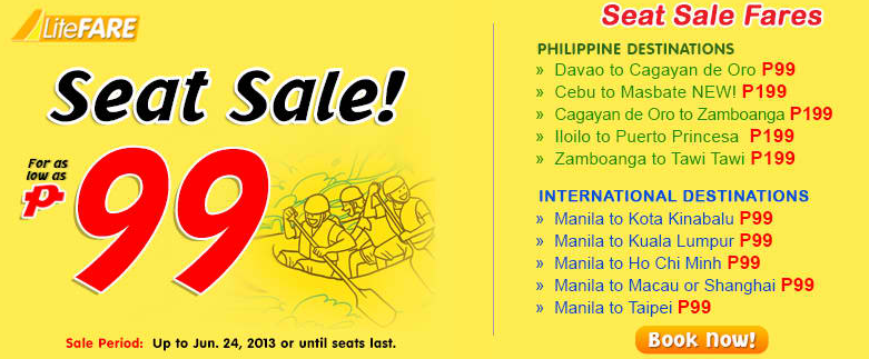 Cebu Pacific Seat Sale 99