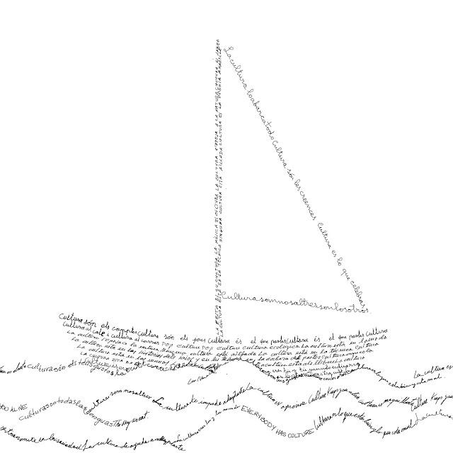 barco de vela, caligrama