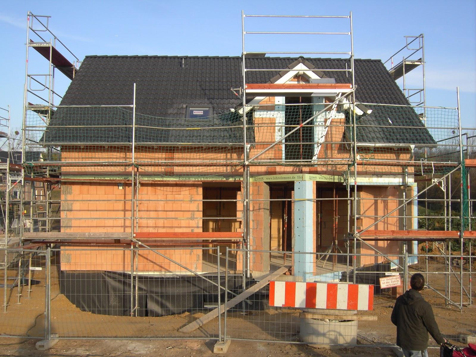 Massivhaus Rhein Lahn unser projekt quot am villehang quot das dach ist gedeckt