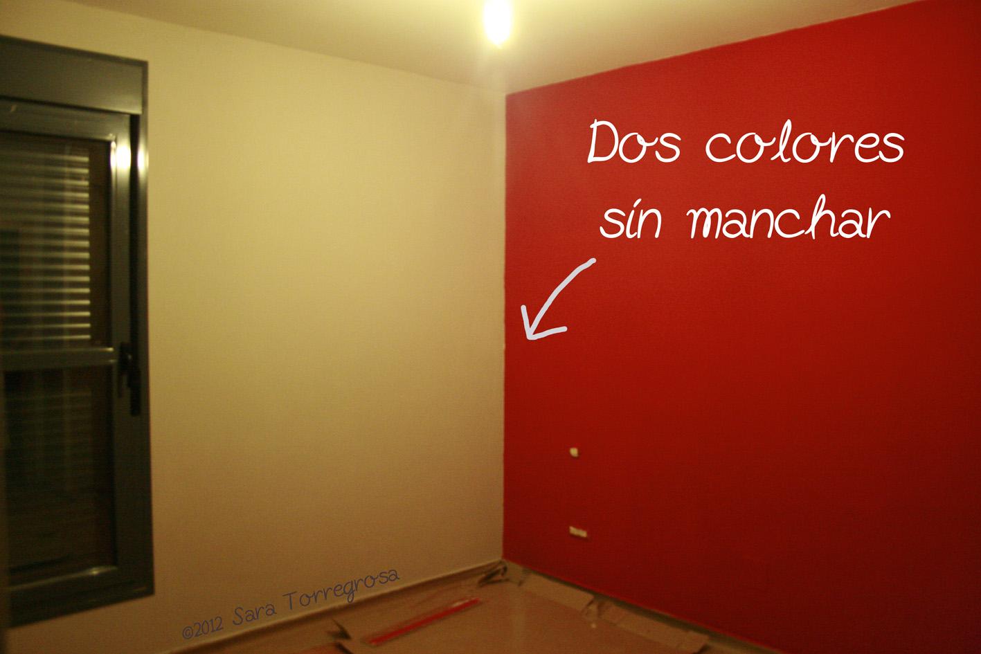 El pegotiblog mini truco c mo pintar una pared con dos - De que color pintar las paredes ...