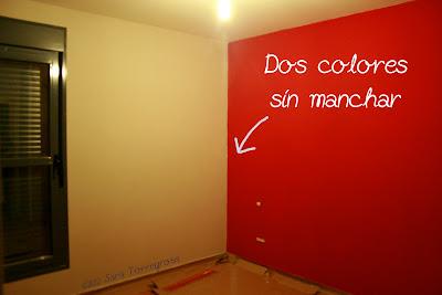 El pegotiblog mini truco c mo pintar una pared con dos - Pintar las paredes de dos colores ...