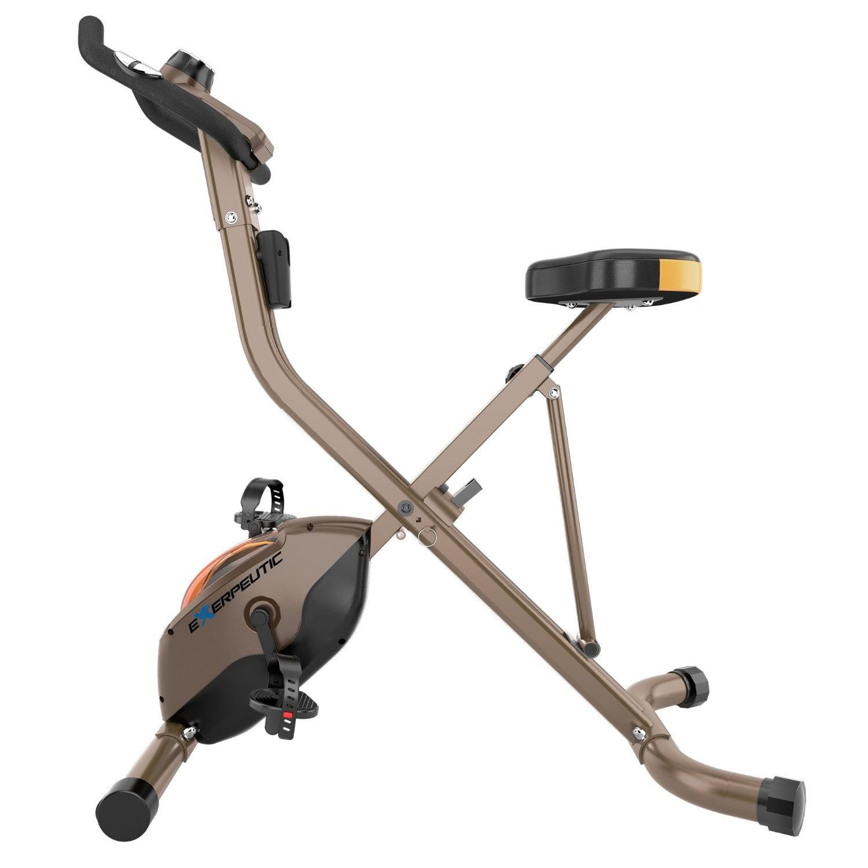 Exercise Bike Zone Exerpeutic 500 Xls Foldable Magnetic Upright