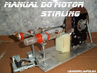 Manual do motor Stirling, Alfa, 1500 rpm e caseiro