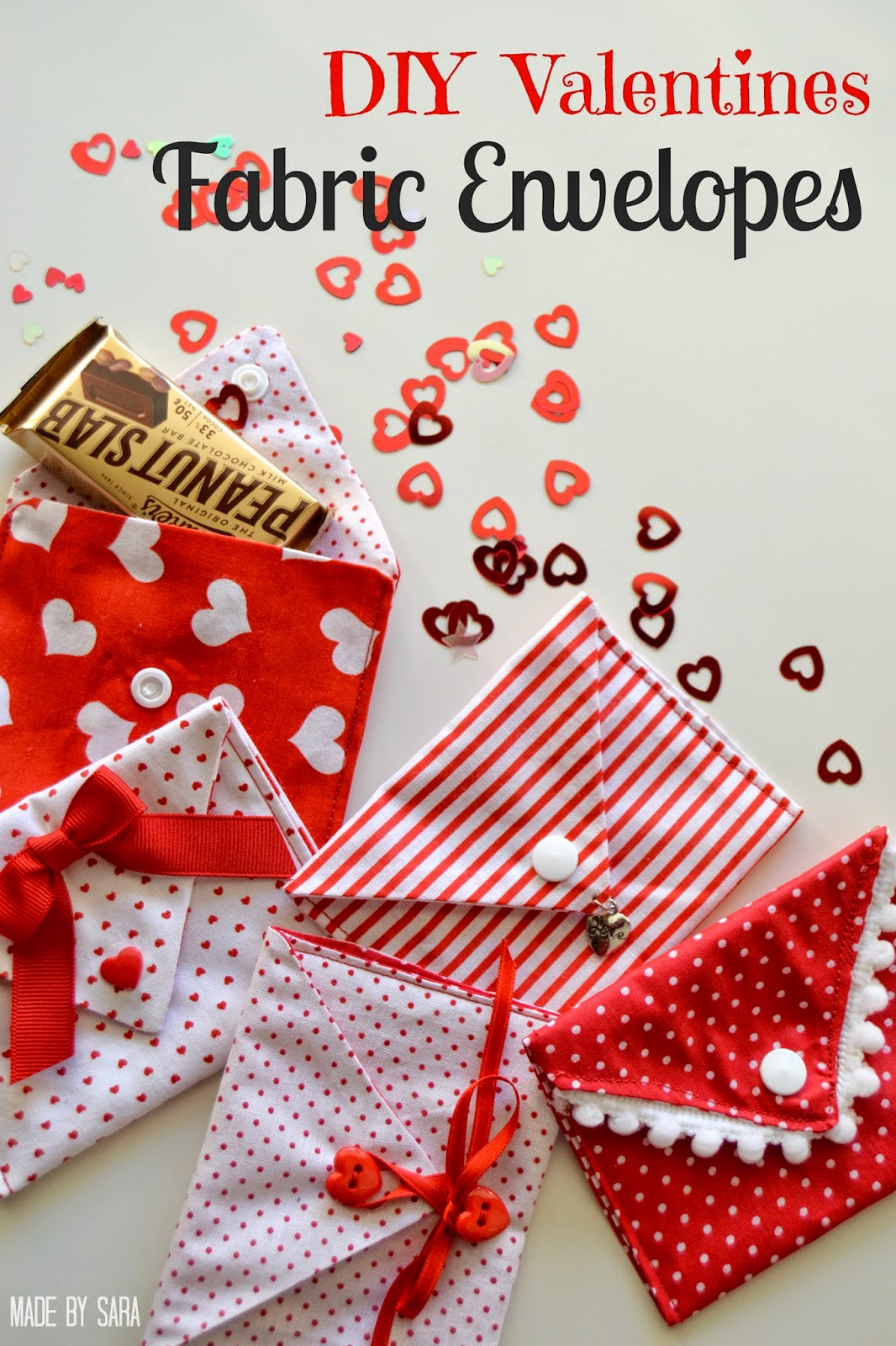 Valentine Fabric Envelopes Tutorial  PeekaBoo Pages  Sew