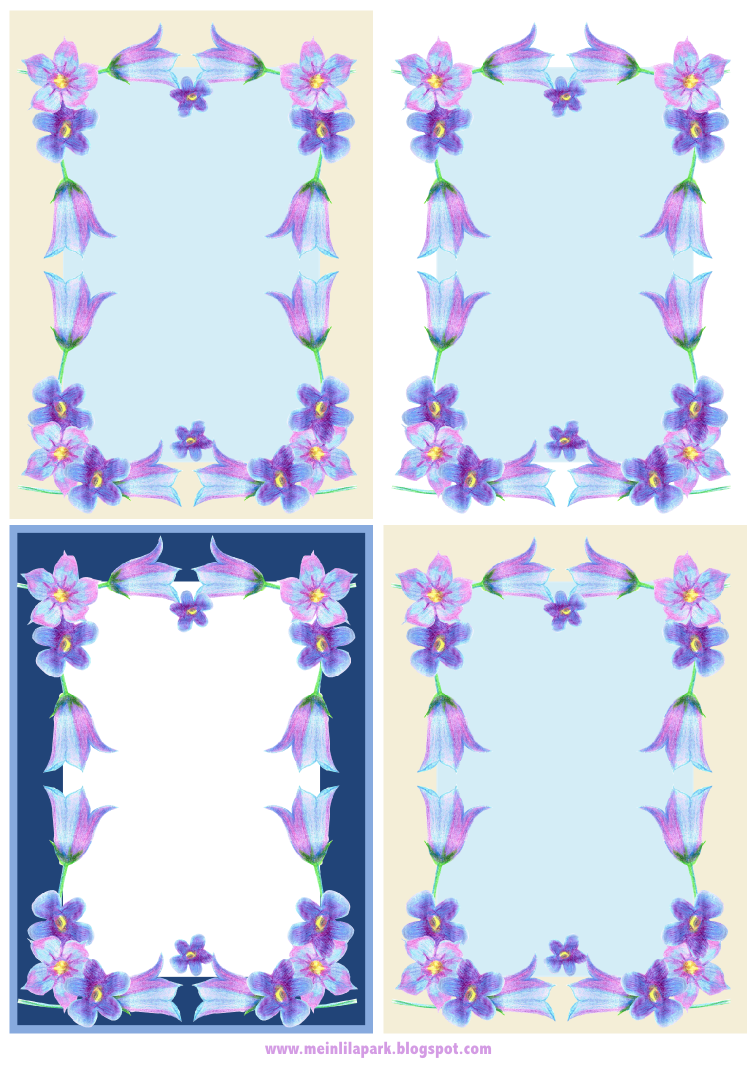 free digital faux vintage flower frame and stationery