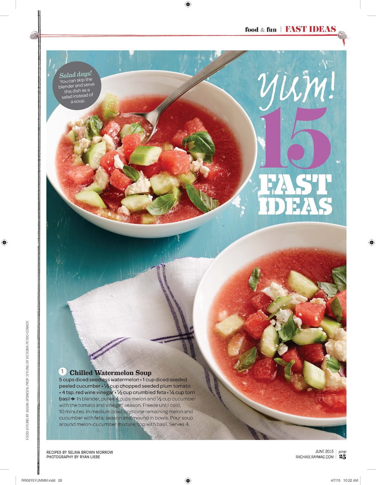 The Daily Dish from Tonia's Kitchen: A Chilly Soup With An Ingredient ...