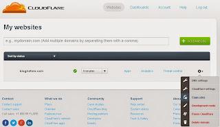 CloudFlare akun Blognfaro