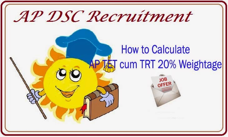 How to Calculate  AP TET cum TRT 20% Weightage