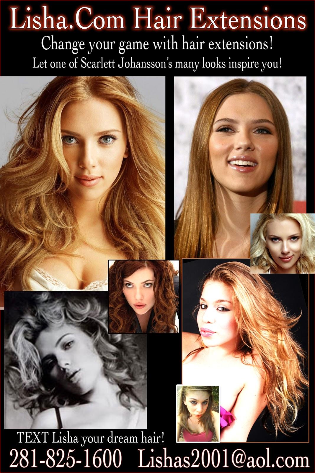Scarlett Johanssons New Film Many Looks Hair Extensions Houston
