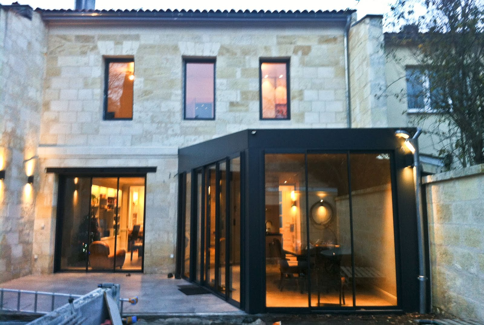 Renovation echoppe bordelaise projet choppe bordeaux for Maison architecte interieur