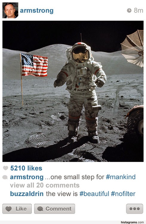 E se os personagens históricos tivessem Instagram