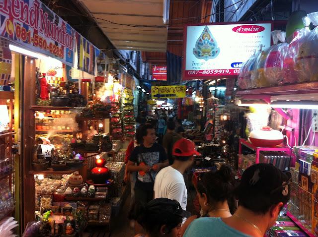 Largos pasillos del mercado