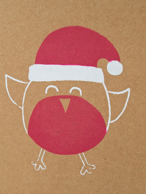 Happy Robin screen printed card 2