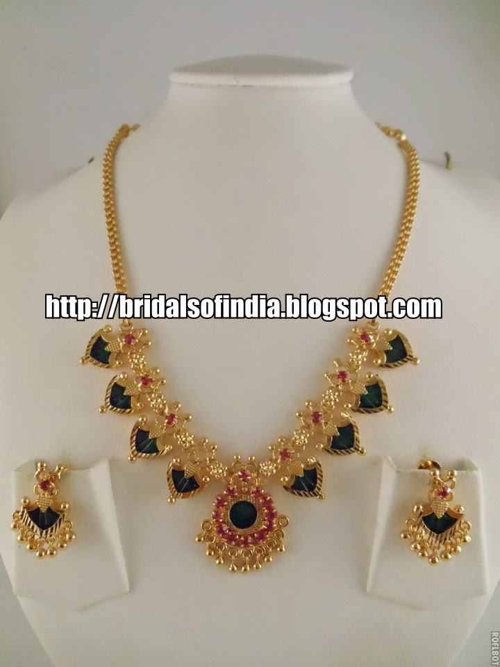Fashion world: Kerala traditional jewellery - palakka mala set