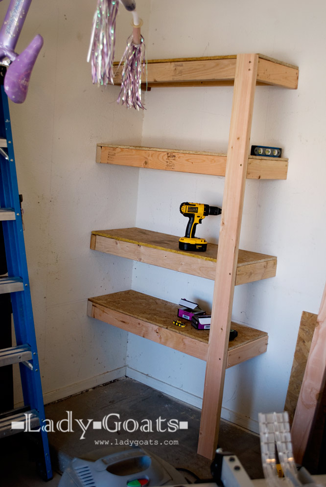 diy garage shelves 2 4 one giant leap garage