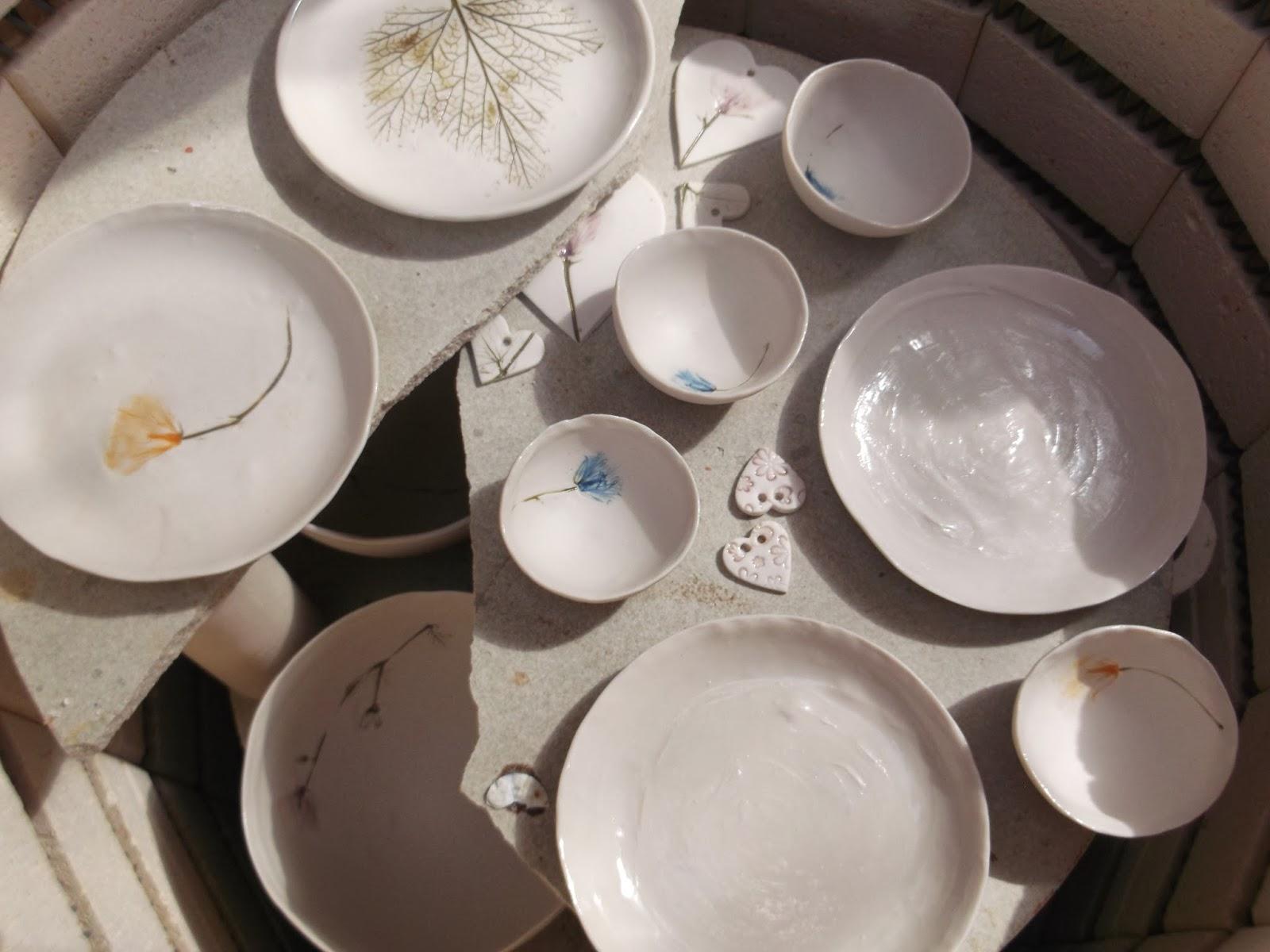 Inside a ceramics kiln