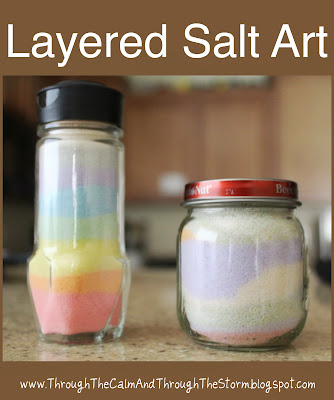 layered salt art