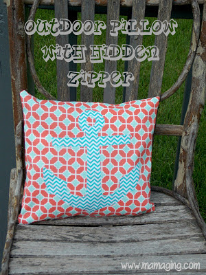 Mama Ging Outdoor Pillows With Hidden Zippers