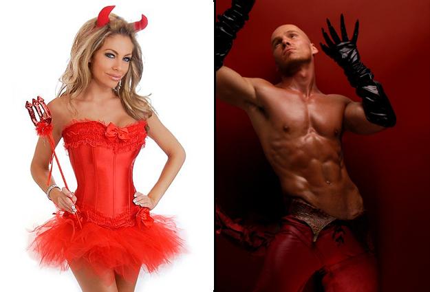 costume diable homme et femme