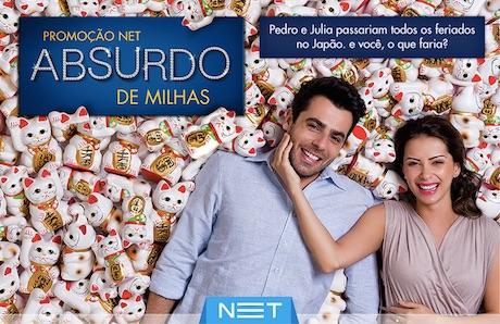 Participar promoção NET Absurdo de Milhas