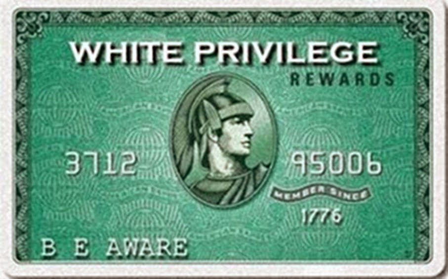 White Privilege Card