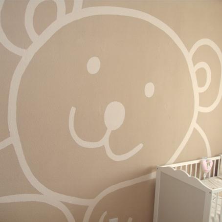 Decopared murales personalizados para el cuarto de tu bebe for Murales pintados en paredes de habitaciones