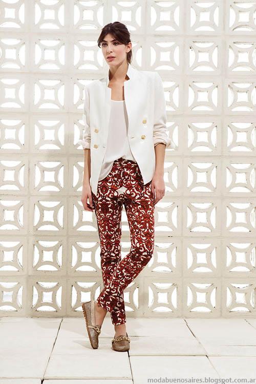 Moda verano 2015 pantalones estampados. Clara primavera verano 2015 looks.