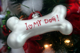 White Dog Ornament