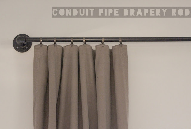 Conduit Pipe Drapery Rod Tutorial   www.adorbymelissa.com