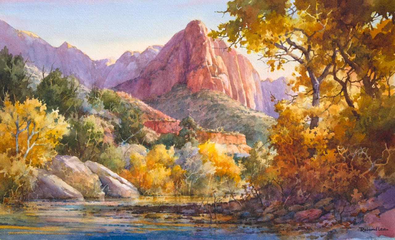 Zion Canyon Oil Painting