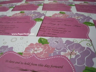Pink white Pastel floral wedding invitation
