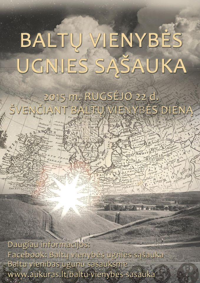 BALTŲ VIENYBĖS UGNIES SĄŠAUKA / BALTU VIENĪBAS UGUŅU SASAUKSME-2015