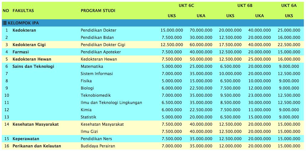 Biaya Jalur Mandiri Unair IPA