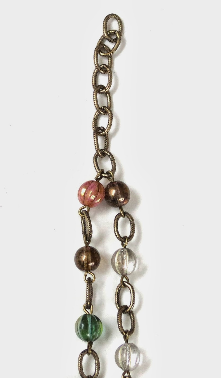 chain necklace with czech glass