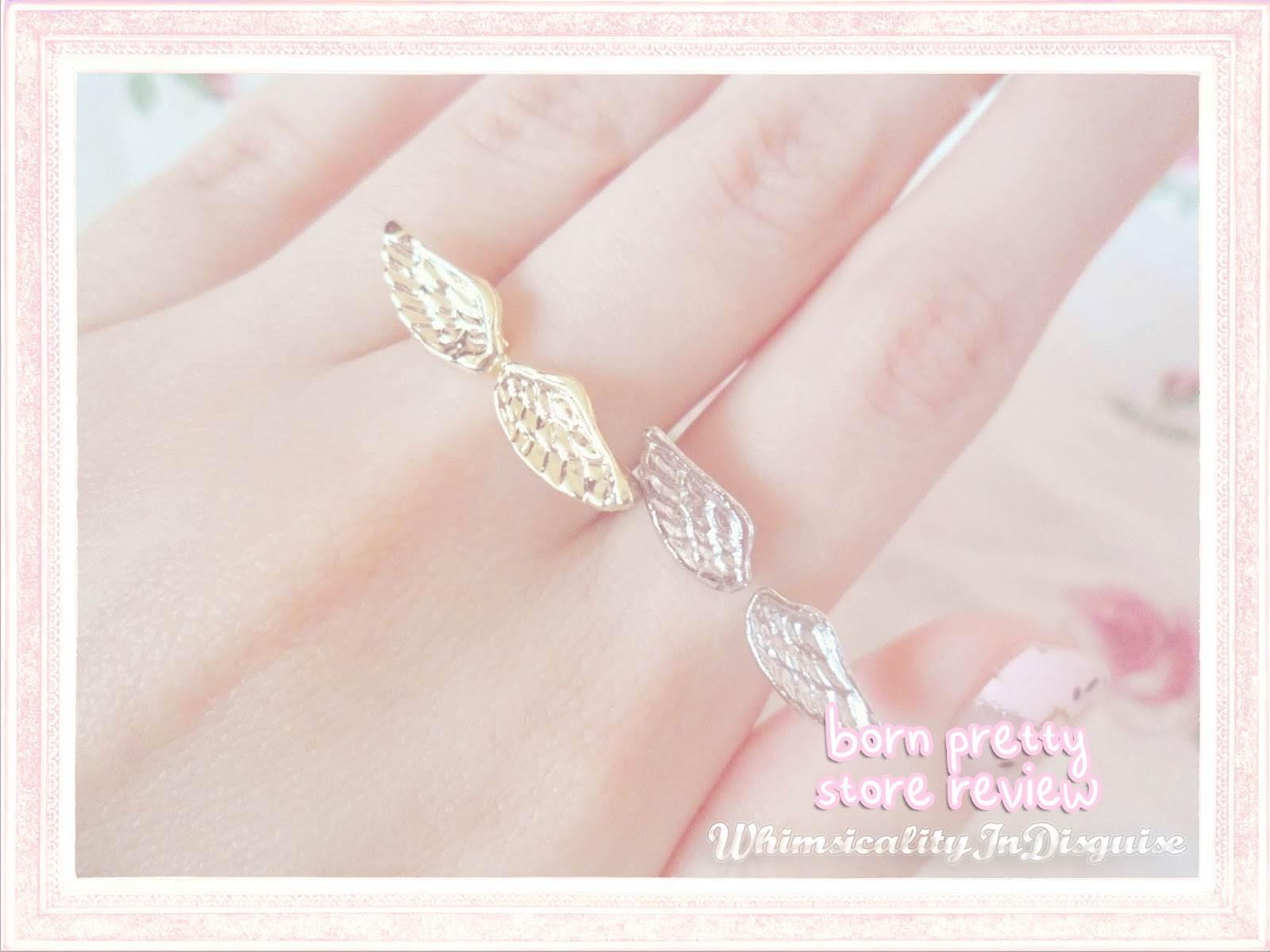 Delicate Fly Wing Patterned Open Design Ring