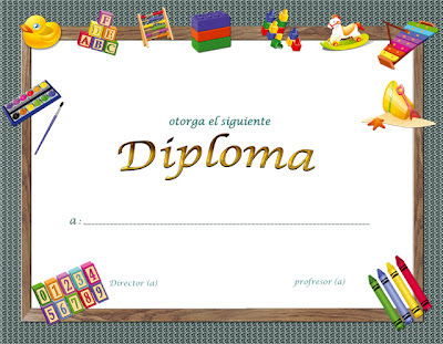 Plantillas de diplomas para parvularia y kindergarten gratis - Frames