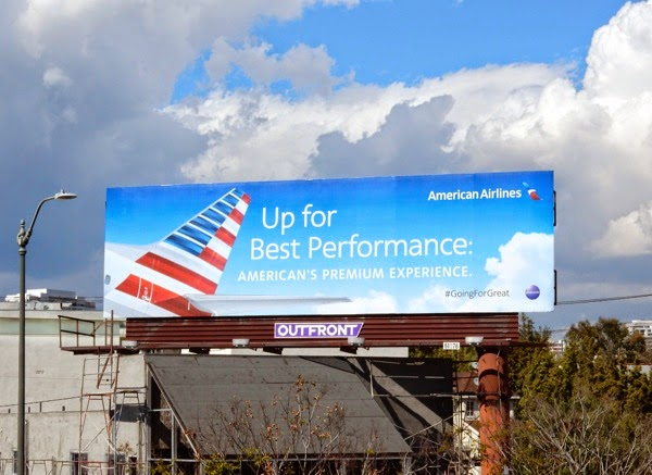 Up for best performance American Airlines billboard