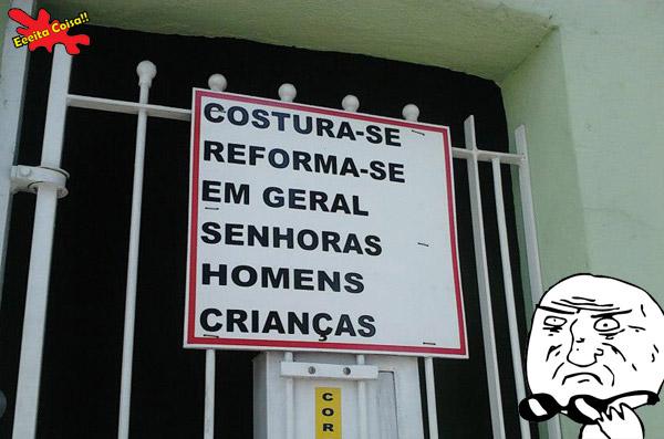 costura, reforma, placa, meme mother of god, eeeita coisa