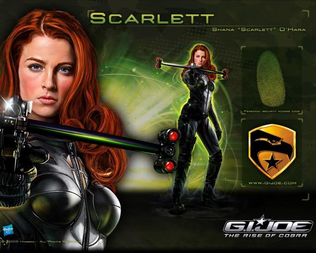 GI Joe Scarlett Wallpaper