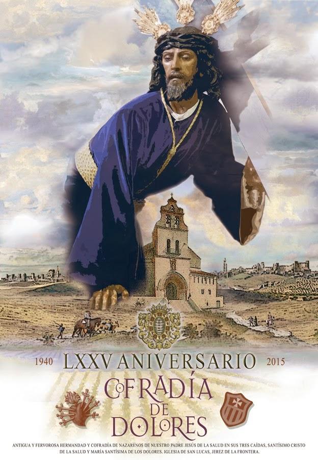 Cartel Aniversario de los 75 años de la Hdad. de las tres caidas