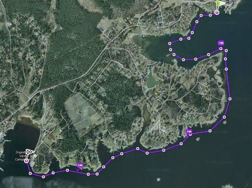 Simning från Bönan till Engesbergs camping