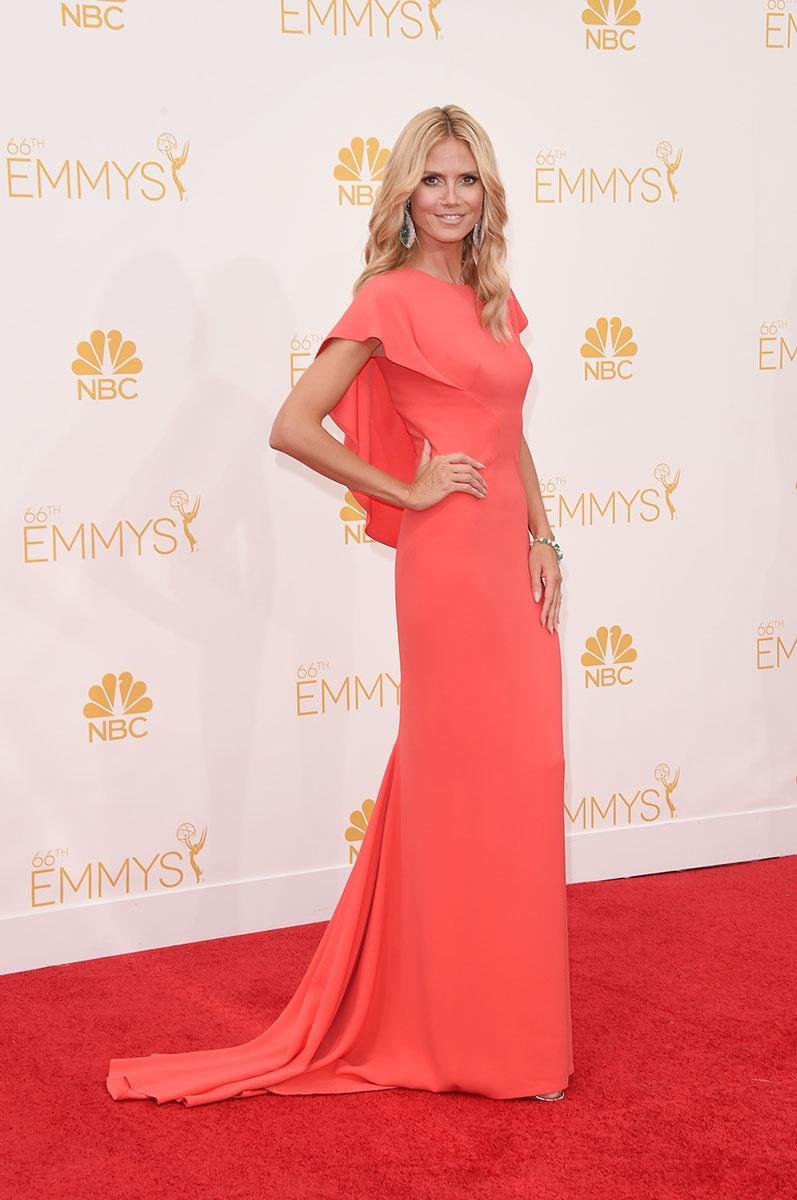 66th Emmys- Heidi Klum in Zac Posen