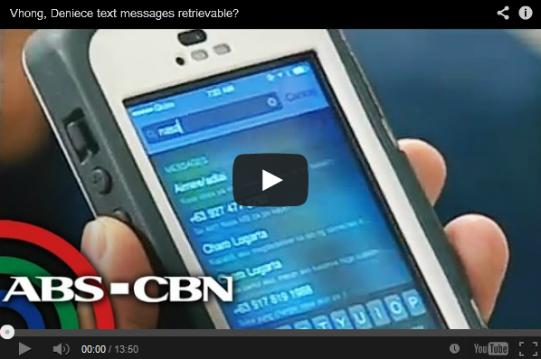 Vhong Navarro and Deniece Cornejo Text Messages Retrievable the Video Report