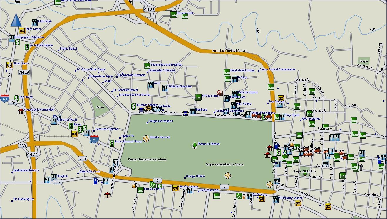 Gpstravelmaps Com Costa Rica Gps Map